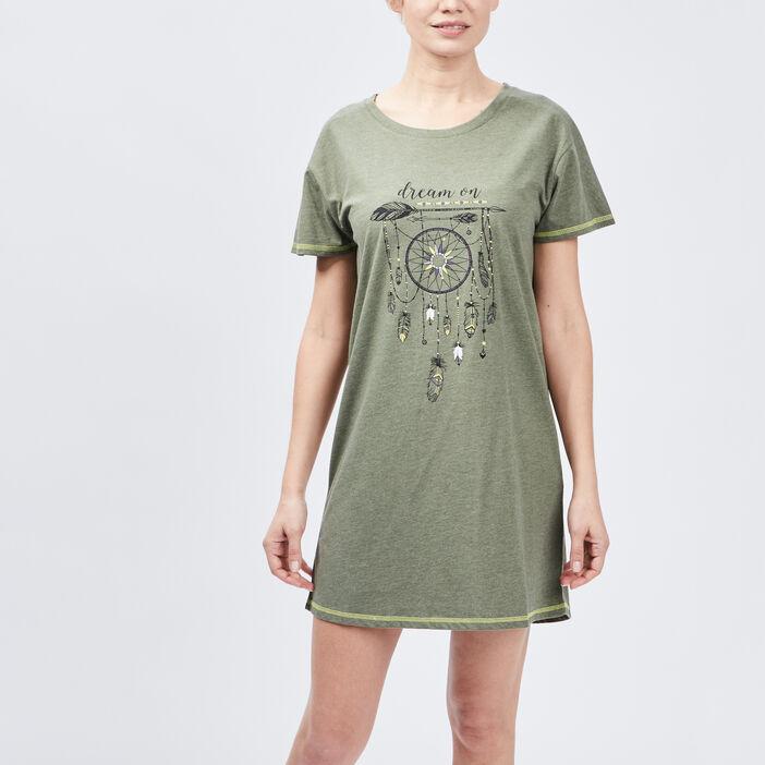 Chemise de nuit Liberto femme vert kaki