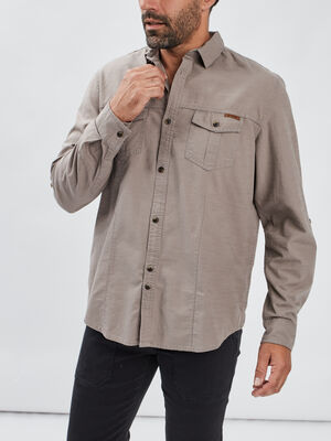 Chemise Trappeur taupe homme