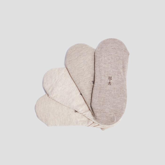 Socquettes protège-bas  beige
