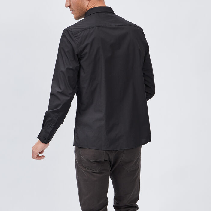 Chemise manches longues Studio homme noir