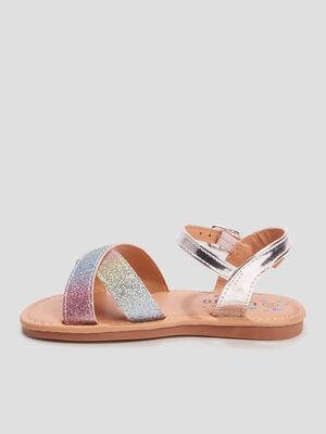 Sandales a paillettes Liberto multicolore fille