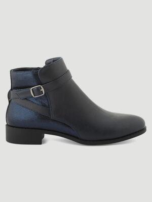 Boots serpent bride croisee bleu femme