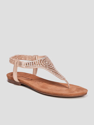 Sandales a strass Mosquitos couleur or femme