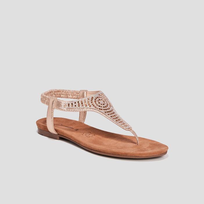 Sandales à strass Mosquitos femme couleur or