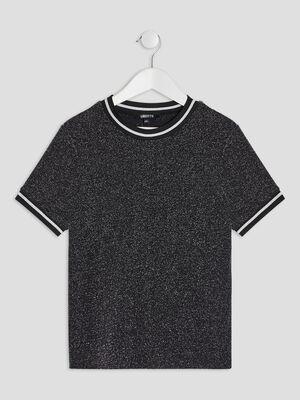 T shirt Liberto noir fille