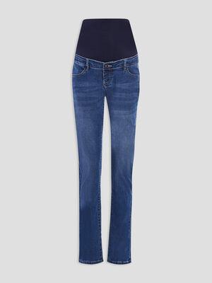 Jeans straight grossesse denim stone femme