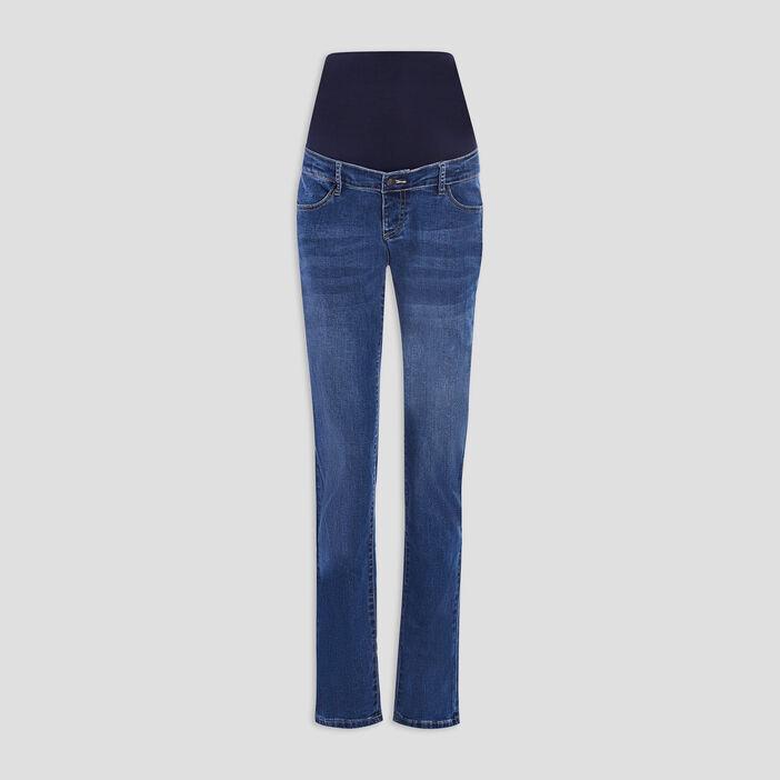 Jeans straight grossesse femme denim stone