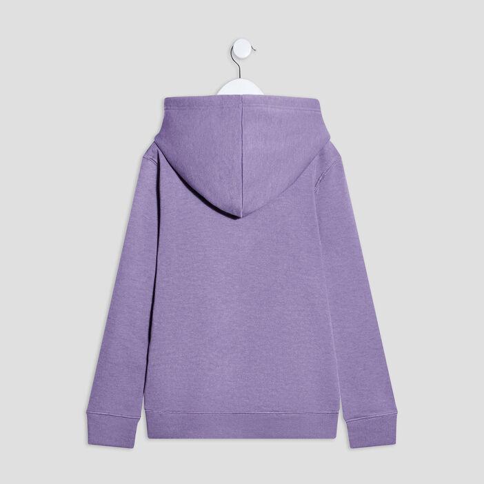 Sweat à capuche Liberto garçon violet