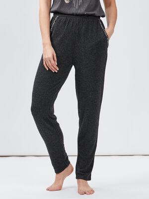 Pantalon de pyjama gris fonce femme