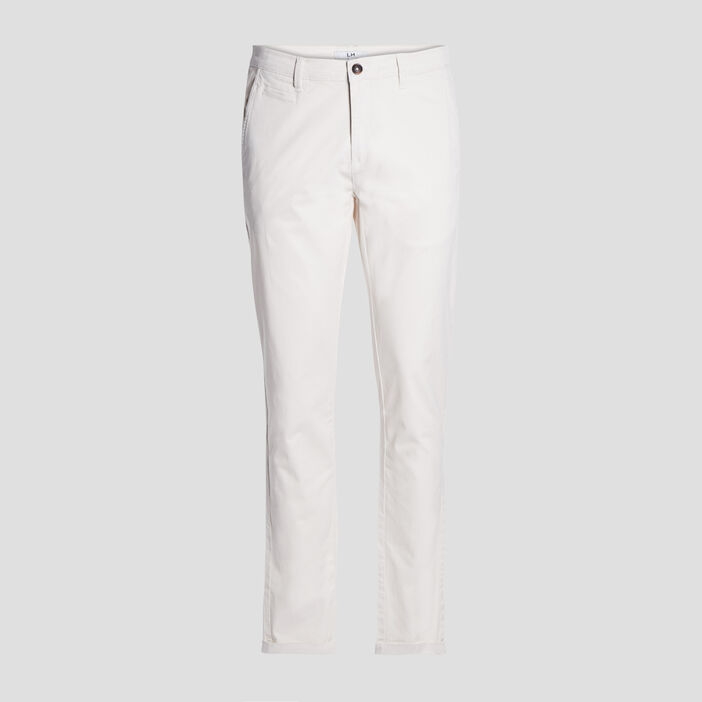 Pantalon straight homme ecru