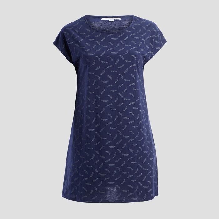 Chemise de nuit femme grande taille bleu marine