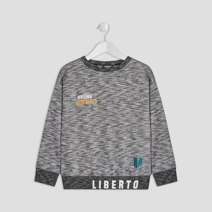 Sweat Liberto garçon gris