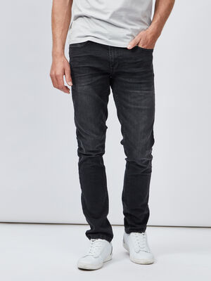 Jeans slim noir homme