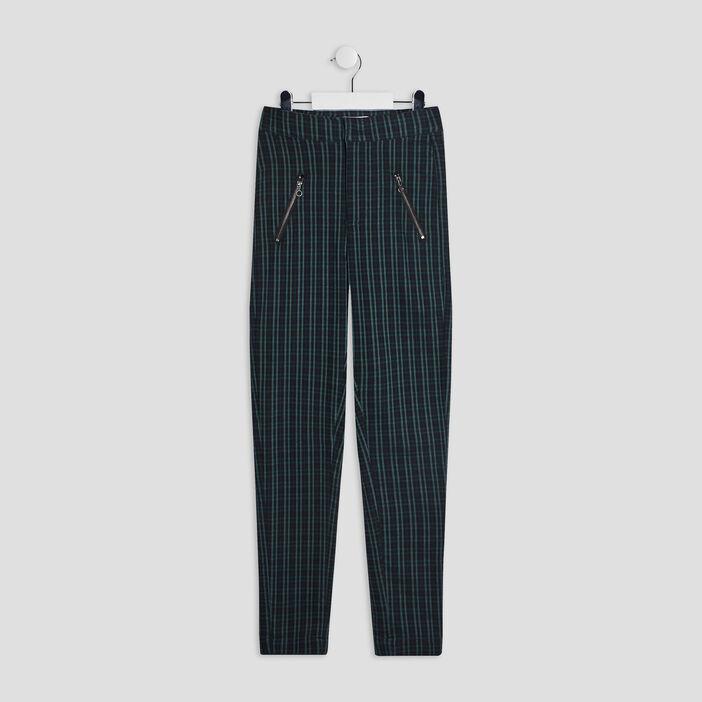 Pantalon droit détails zippés fille multicolore