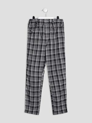 Pantalon paperbag noir fille