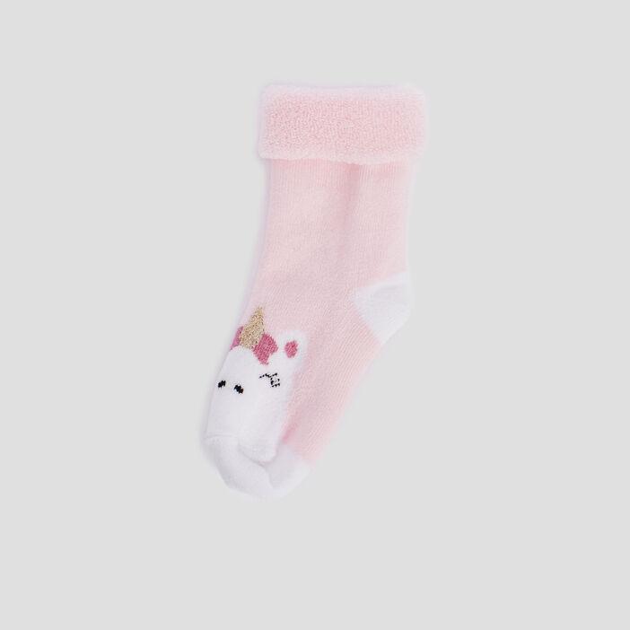 Chaussettes bébé fille rose