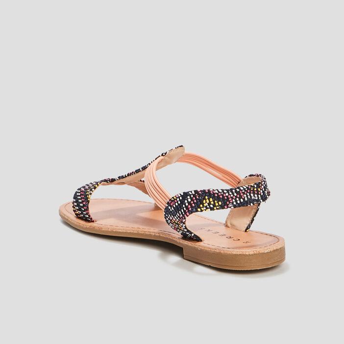 Sandales plates fille noir