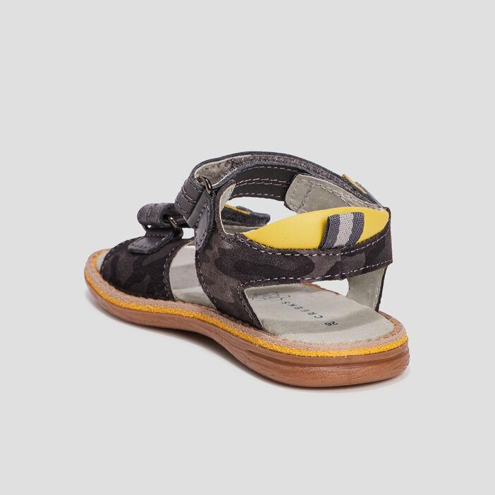 Sandales en cuir Creeks garçon gris