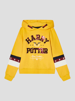 Sweat Harry Potter jaune moutarde fille