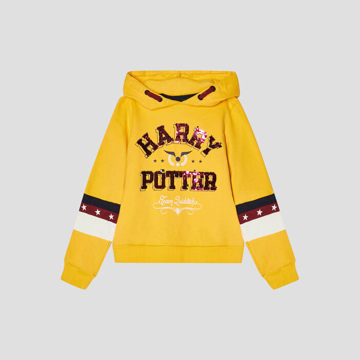 Sweat Harry Potter fille jaune moutarde
