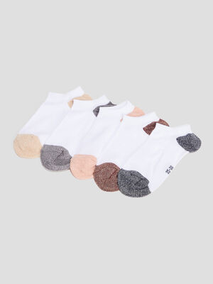 Socquettes blanc femme
