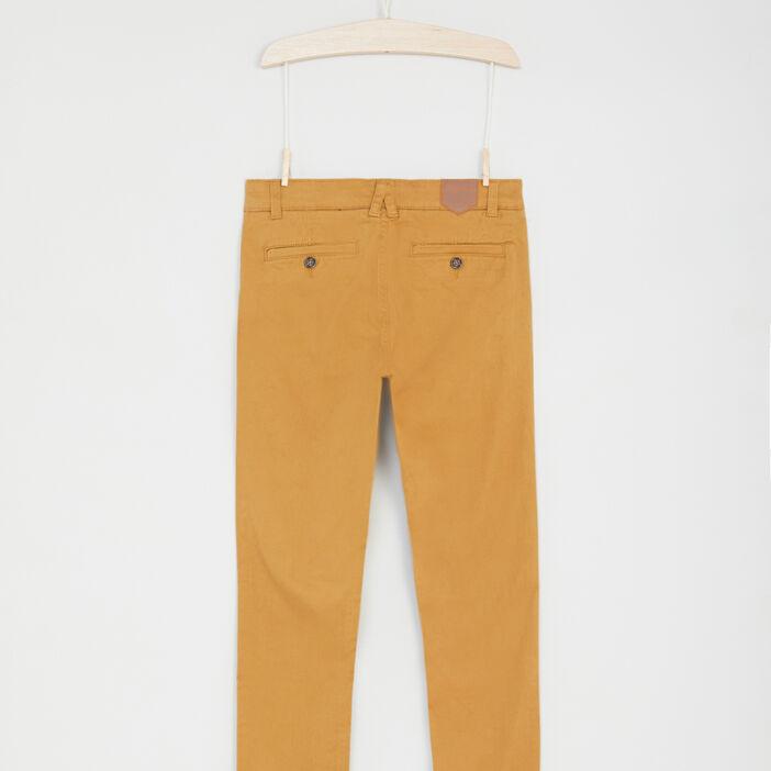 Pantalon 5 poches coton extensible garçon camel
