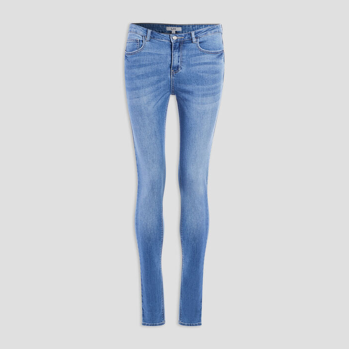 Jeans slim taille standard femme denim double stone