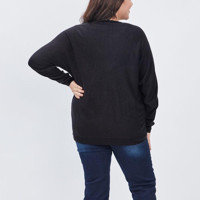 Gilet zippé grande taille femme grande taille noir