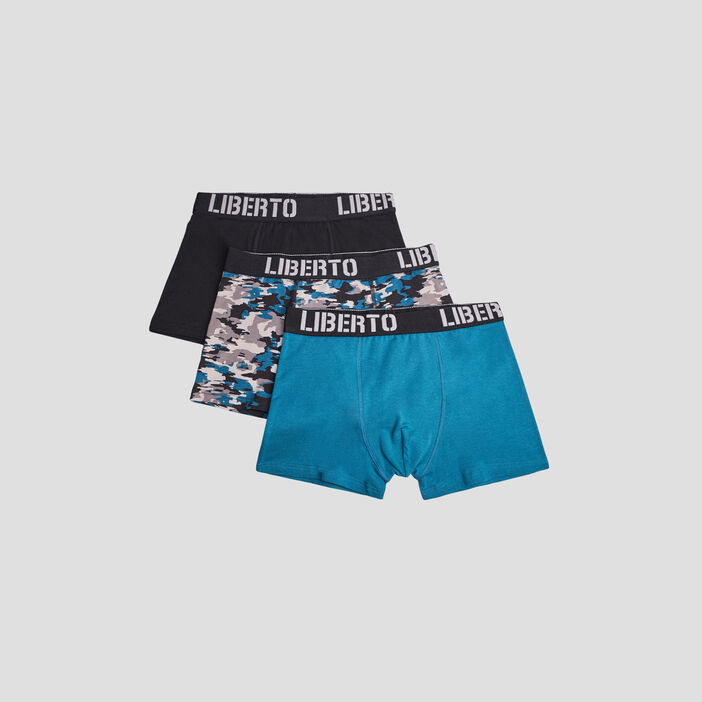 Lot 3 boxers Liberto homme gris