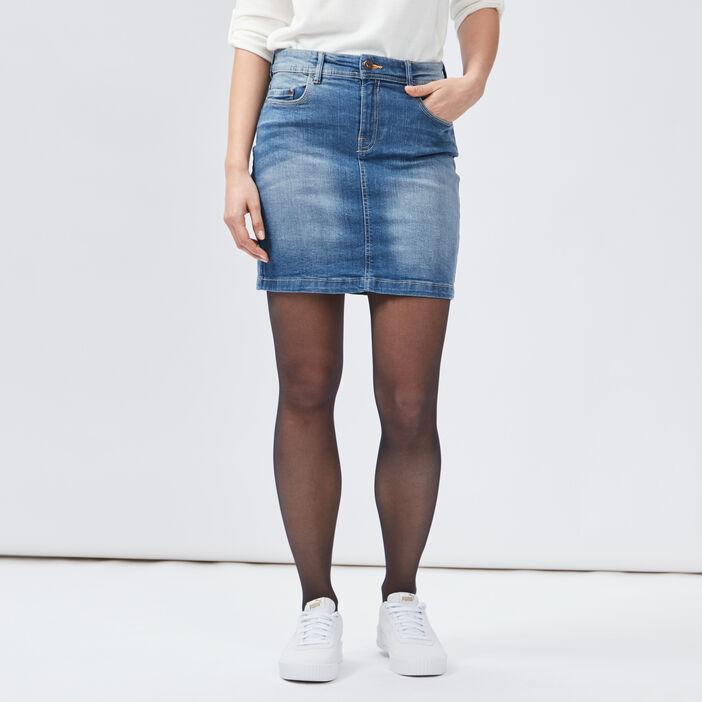 Jupe ajustée en jean femme denim stone