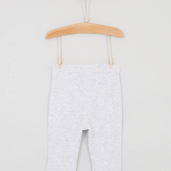 Pantalon avec lien à nouer bébé garçon gris