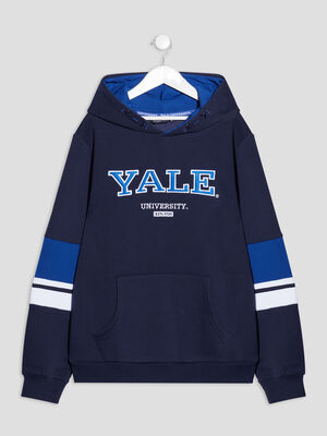 Sweat a capuche Yale bleu marine garcon