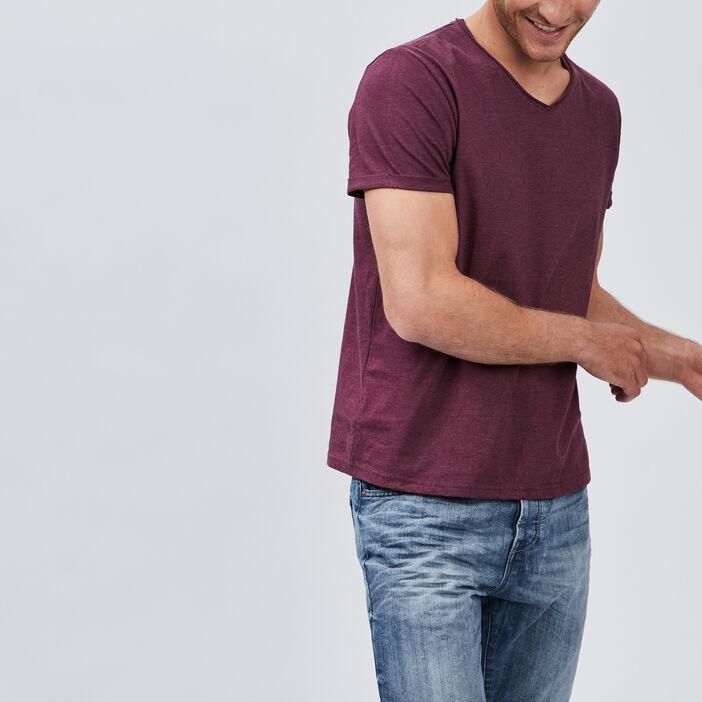 T-shirt manches courtes col rond homme violet