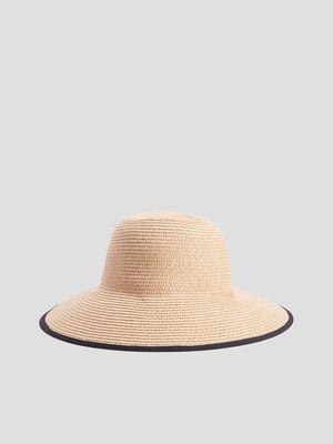 Chapeau tresse a noeud noir femme