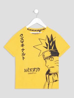T shirt manches courtes Naruto jaune moutarde garcon