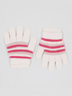 Lot gants et mitaines coeur ecru mixte