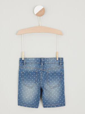 Short en jean imprime denim double stone fille