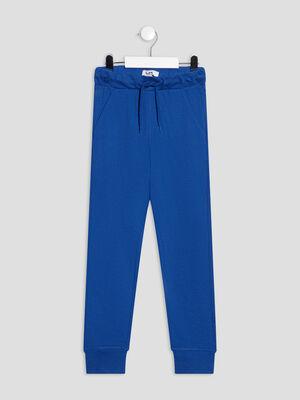Jogging taille a coulisse bleu electrique garcon
