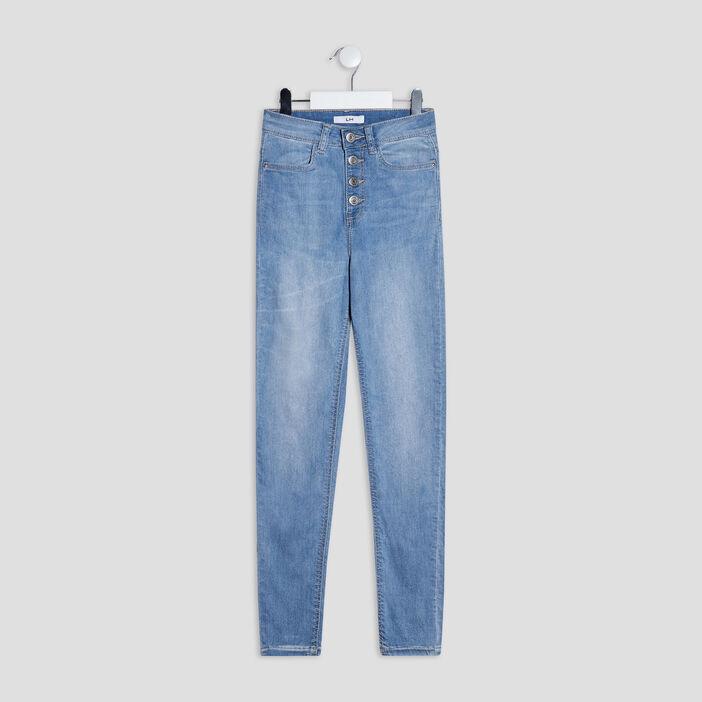 Jeans skinny stretch fille denim bleach