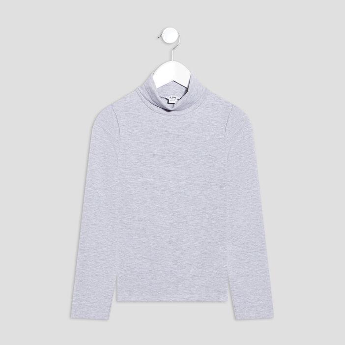 T-shirt manches longues fille gris