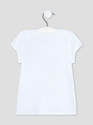 T shirt manches courtes blanc bebef