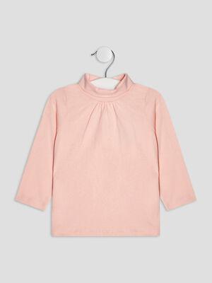 T shirt manches longues rose clair bebef
