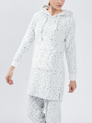Pyjama coordonnable ecru femme
