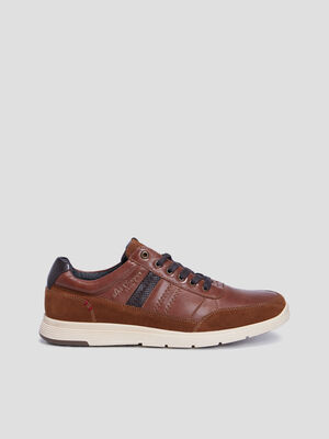 Sneakers Lee Cooper marron homme