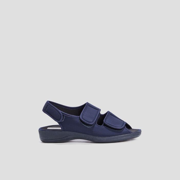Sandales à scratchs femme bleu marine