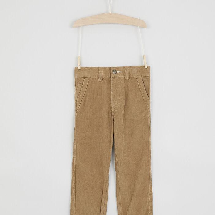 Pantalon en velours côtelé uni garçon camel