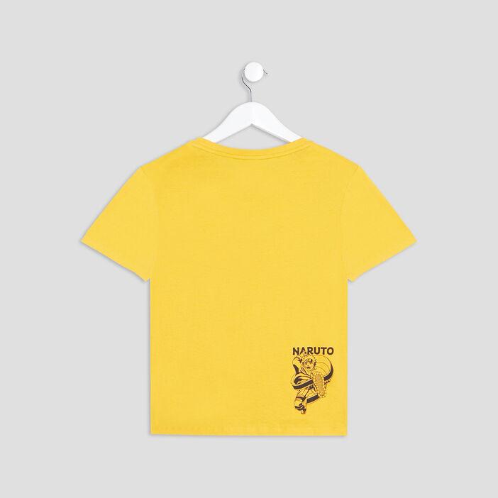 T-shirt manches courtes Naruto garçon jaune moutarde