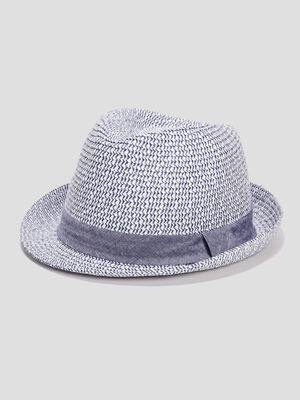 Chapeau tresse bleu garcon