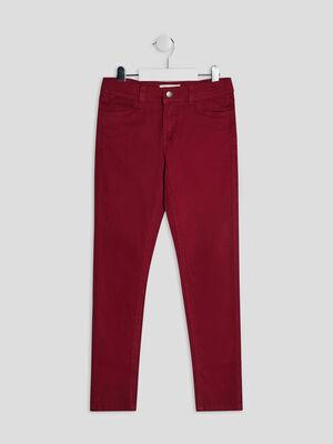 Pantalon skinny bordeaux fille