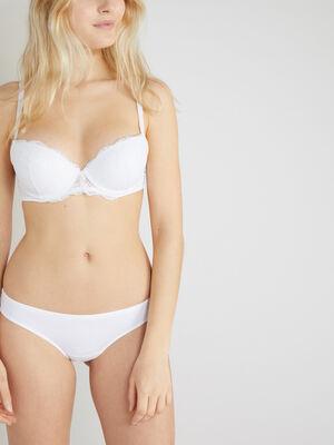 Culotte unie voile blanc femme